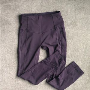 lululemon purple high waisted leggings
